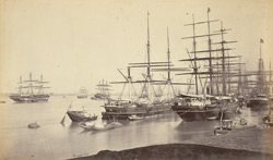 View of shipping from Fort Point [Calcutta]